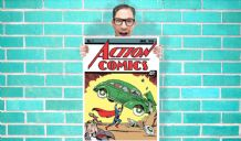 Action comics Superman DC Comic Art Work - Wall Art Print Poster Any Size -  Comic Art Geekery